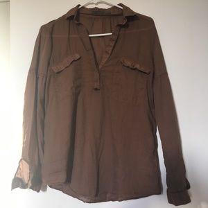 Zara Basic brown top